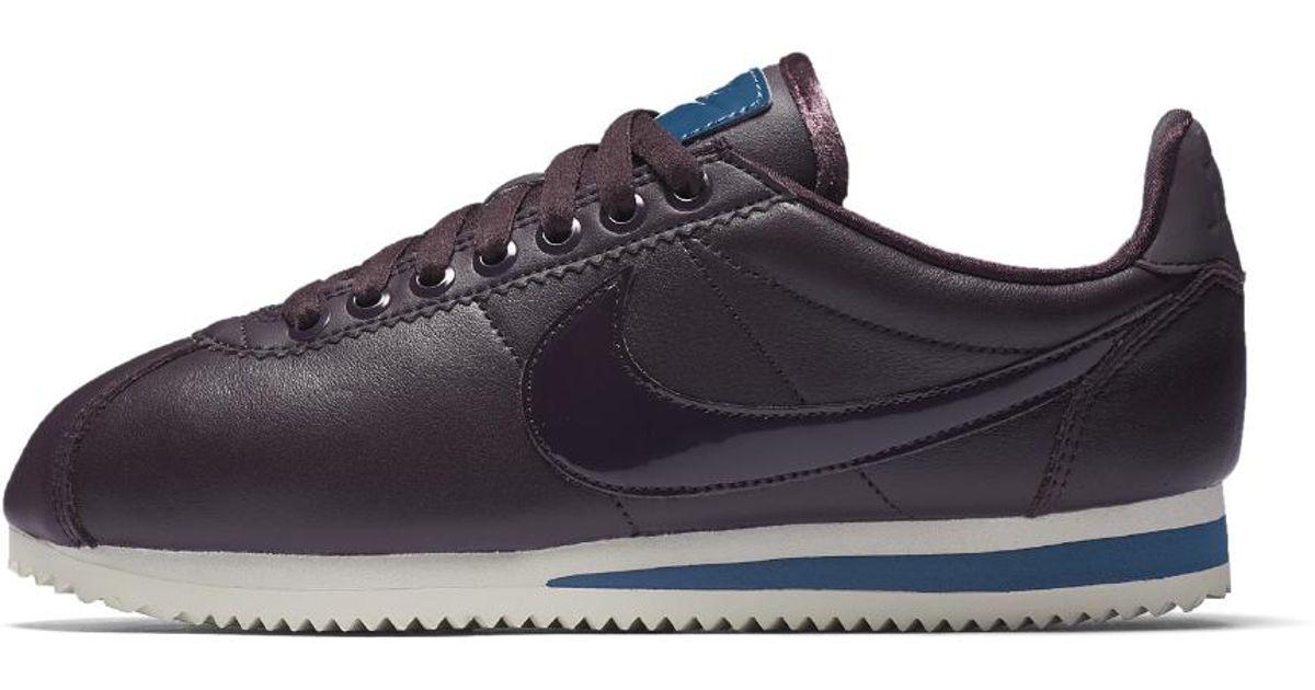 4470b89abce Lyst - Nike Classic Cortez Se Premium Nocturne Women s Shoe in Blue