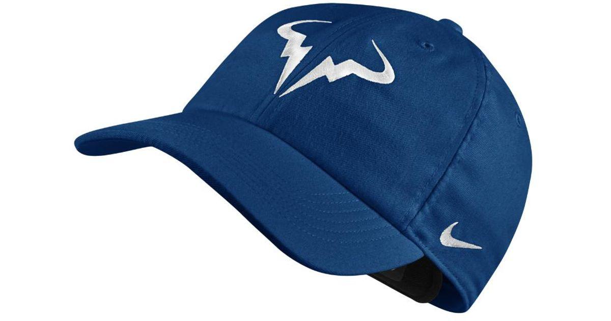 51278dae3c0cd Lyst - Nike Court Aerobill H86 Rafael Nadal in Blue for Men