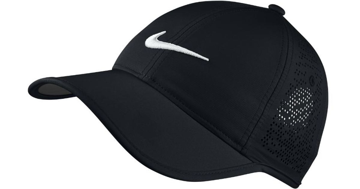 a597d7db Lyst - Nike Perforated Women's Adjustable Golf Hat (black) in Black for Men