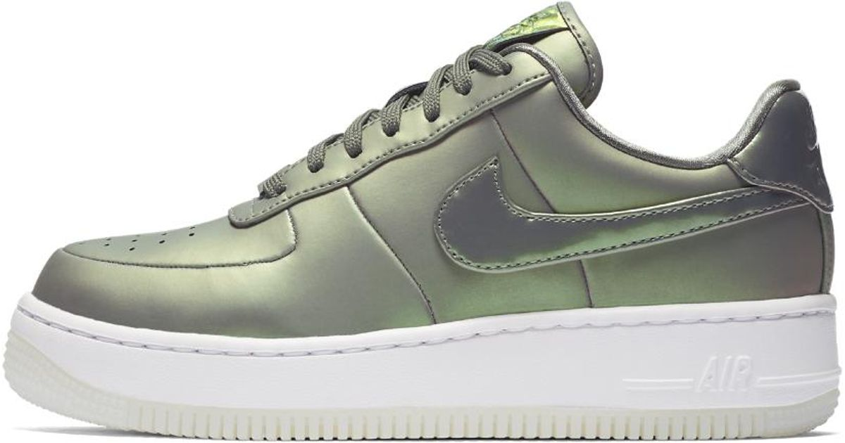 wholesale dealer bf916 df05a Lyst - Nike Air Force 1 Upstep Premium Lx Women s Shoe in White