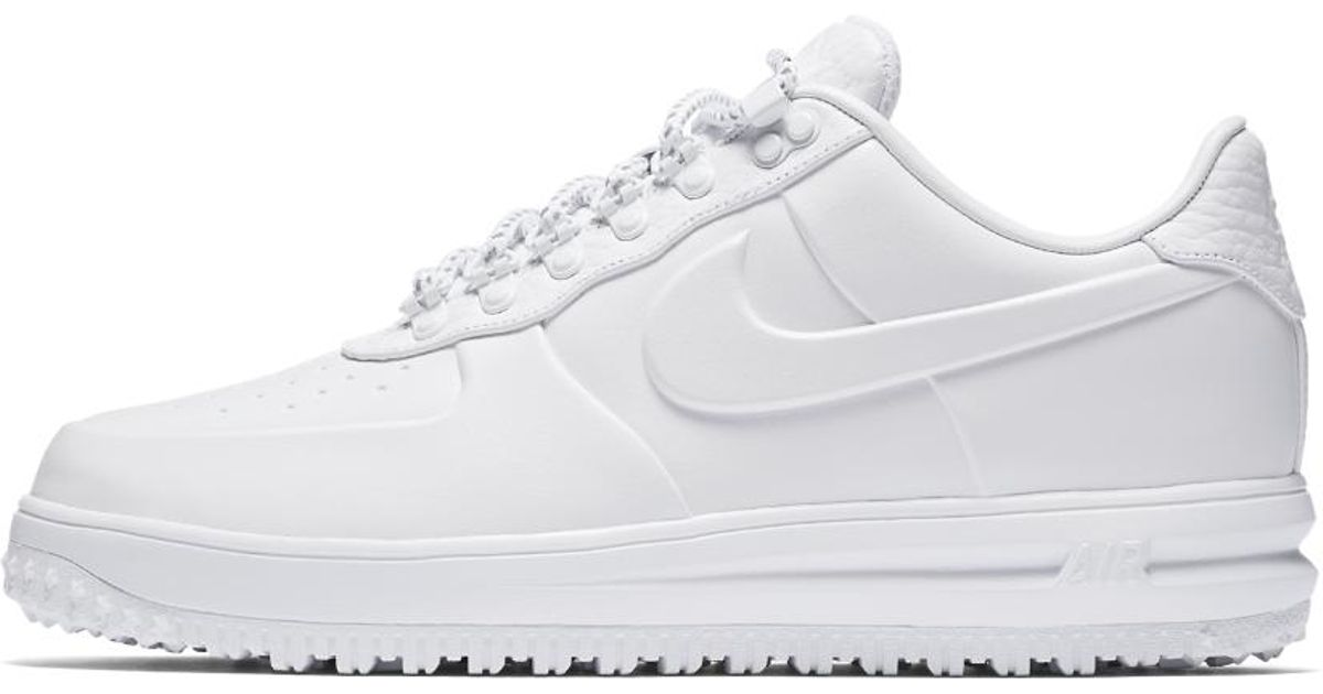 new product 42702 78fbb ... promo code for lyst nike lunar force 1 low duckboot ibex mens shoe in  white for