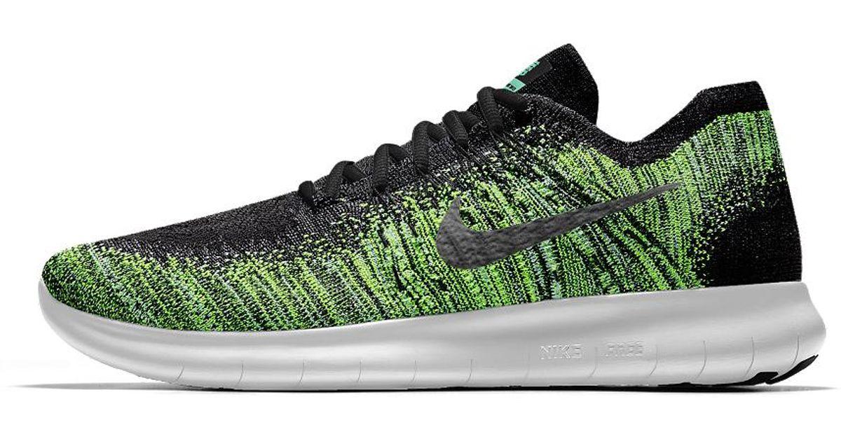 3e9b82f0ff05 Lyst - Nike Free Rn Flyknit 2017 Id Men s Running Shoe in Green for Men