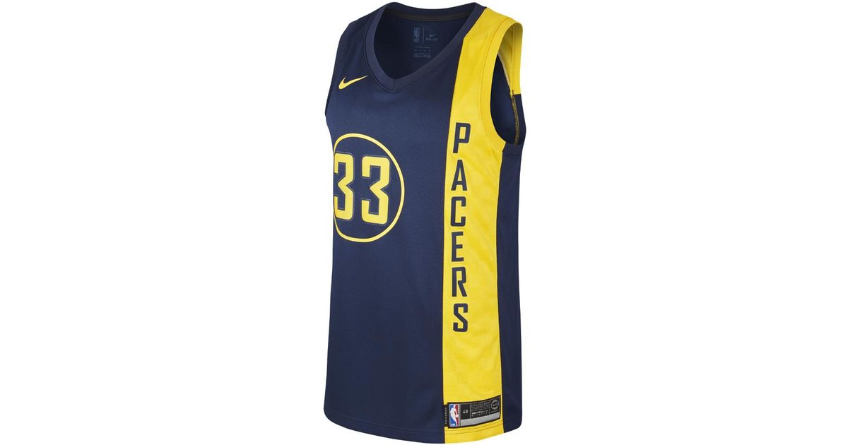 e9a666b452e Nike Myles Turner City Edition Swingman Jersey (indiana Pacers) Men s Nba  Jersey in Blue for Men - Lyst