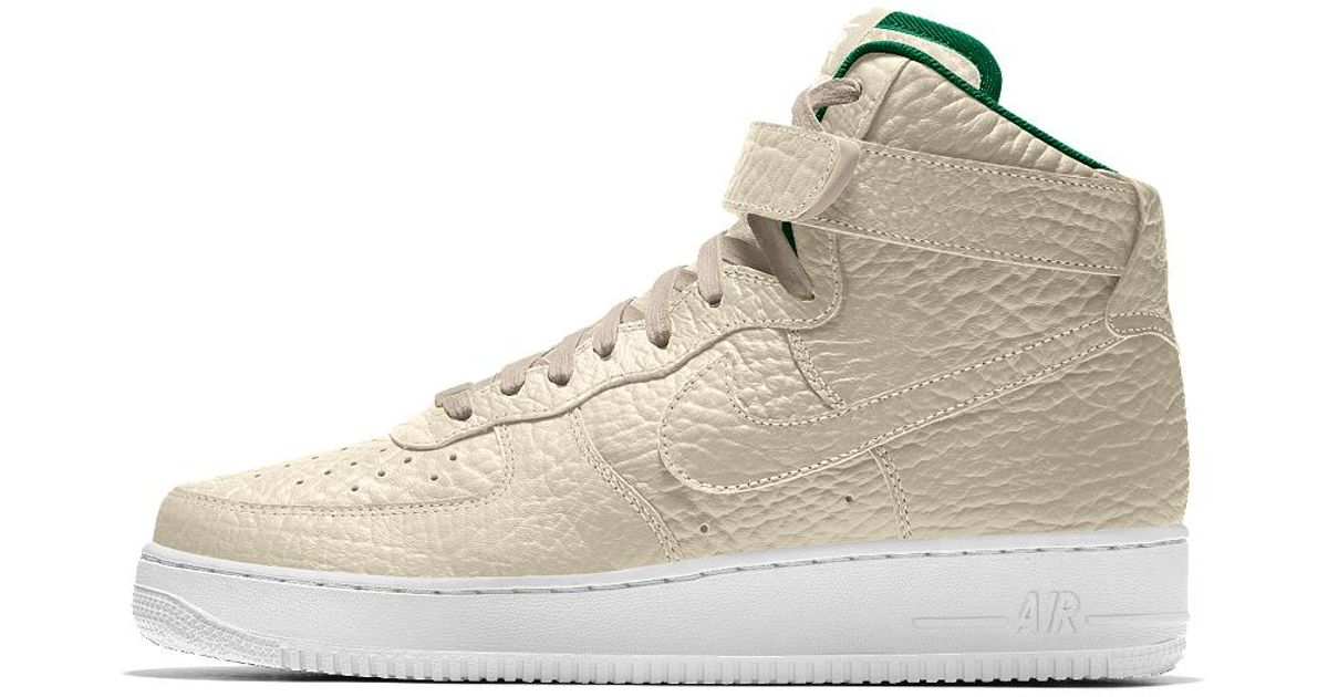 Lyst Nike Air Force 1 High Premium Id (milwaukee Bucks) Men's Shoe
