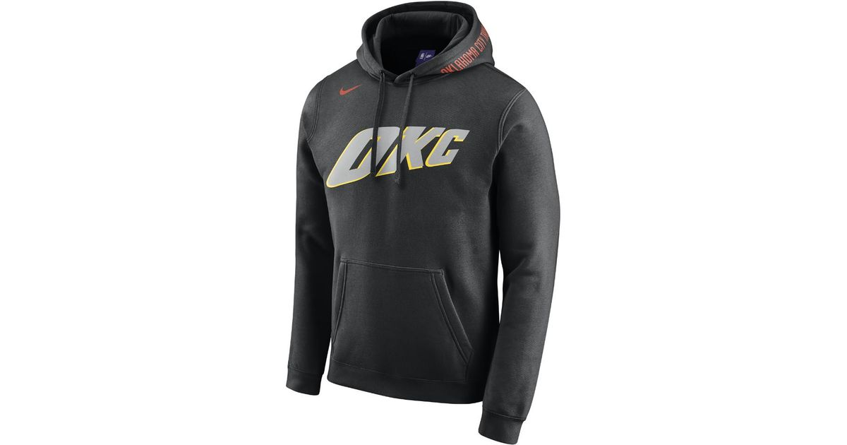 the latest a91be 96fae Nike - Black Oklahoma City Thunder City Edition Men's Nba Hoodie for Men -  Lyst