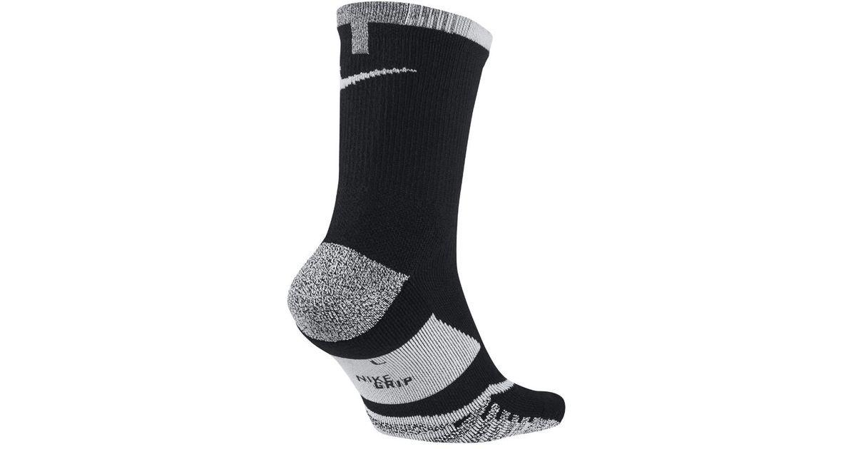 ba8286085 Nike Grip Elite Crew Tennis Socks in Black for Men - Lyst