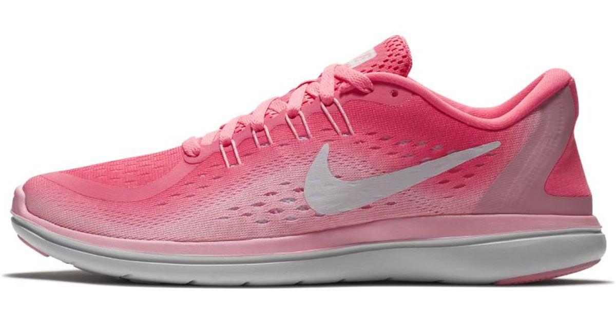 15807c4101e5 Lyst - Nike Flex 2017 Rn Women s Running Shoe in Pink