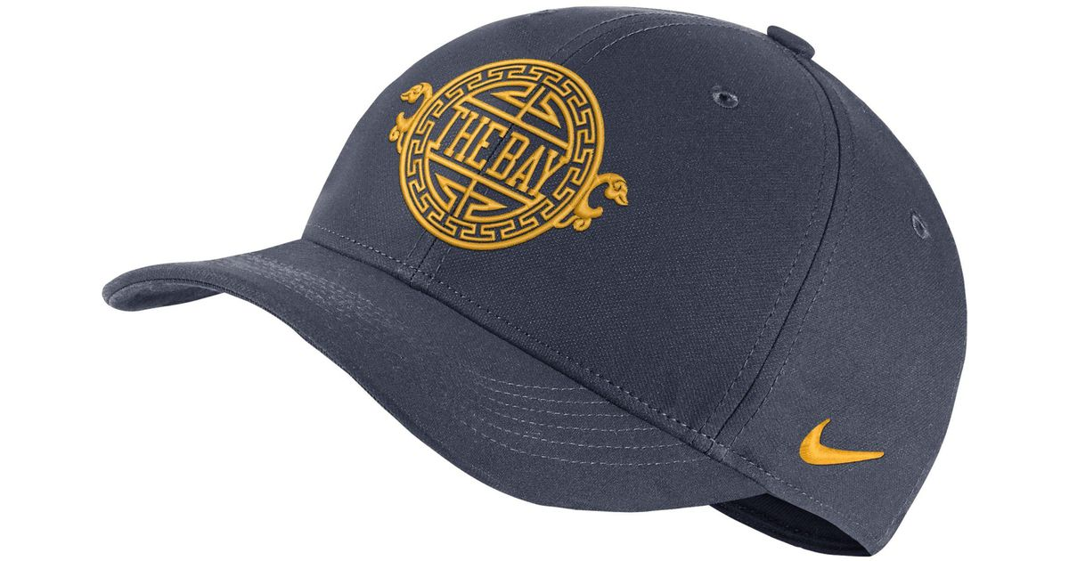 3ce7d2adcb9 Nike Golden State Warriors City Edition Aerobill Classic99 Nba Hat in Blue  - Lyst