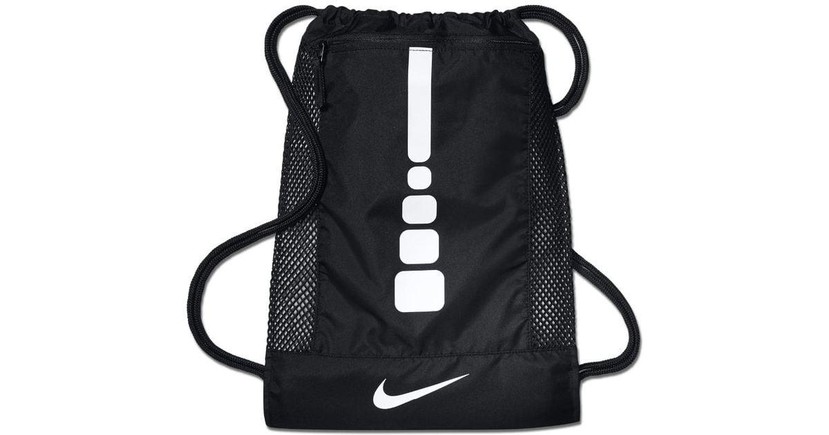 Lyst - Nike Hoops Elite Basketball Gym Sack (black) in Black for Men c67ffed15bea4
