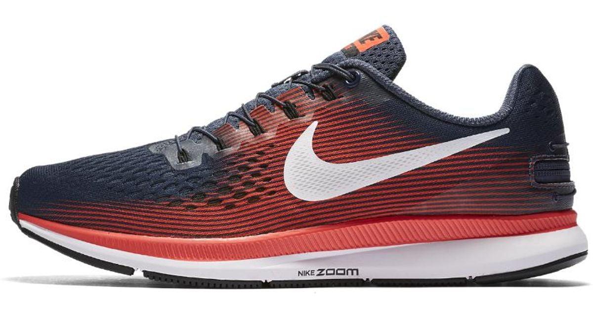240aac6bdc1 Lyst - Nike Air Zoom Pegasus 34 Flyease Men s Running Shoe in Blue for Men