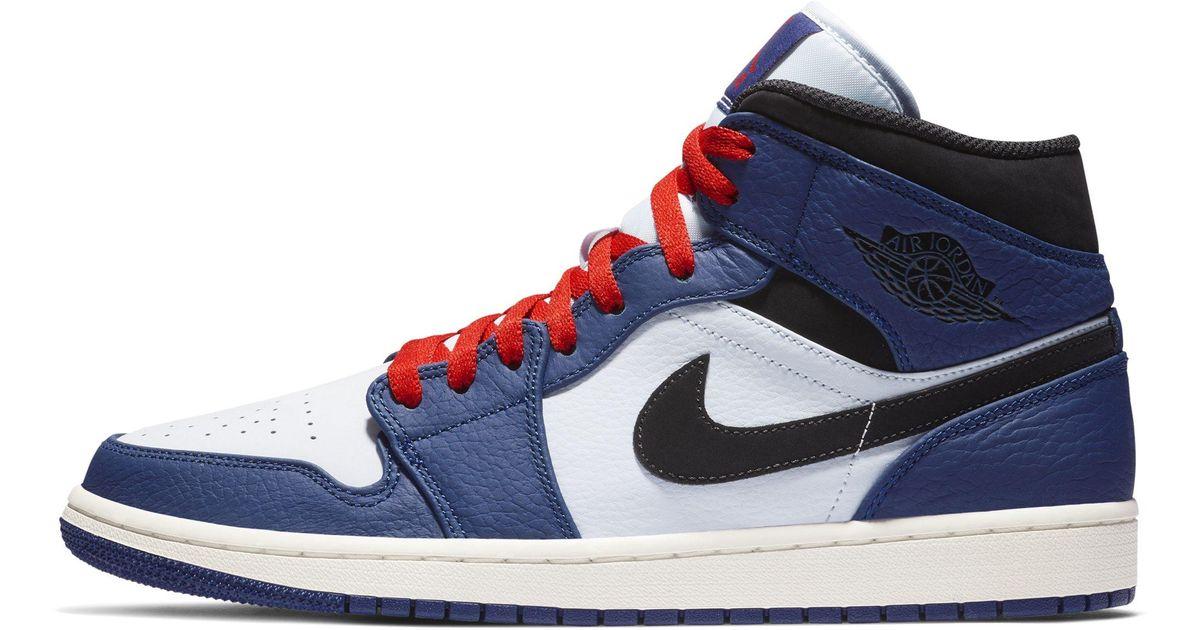 7880f847fca6dd Nike Air Jordan 1 Mid Se Shoe in Blue for Men - Lyst