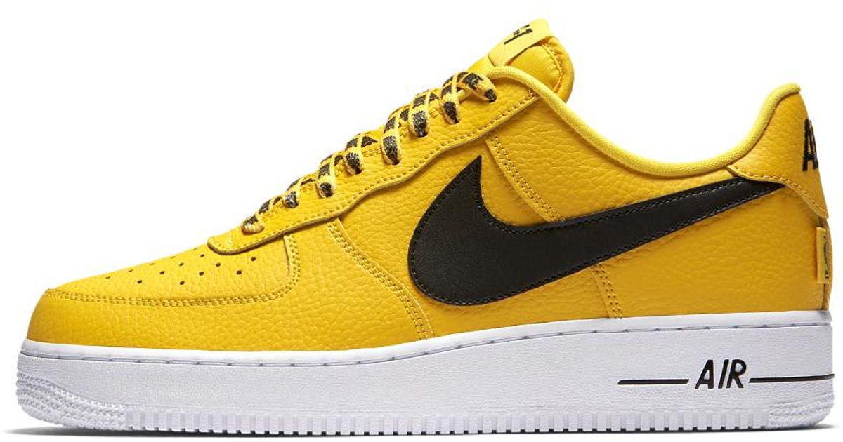 more photos aed12 f66da ... promo code for lyst nike air force 1 low 07 nba mens shoe in yellow for