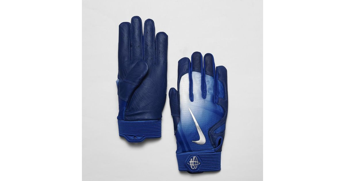 78e03bc25083 Lyst - Nike Huarache Elite Baseball Batting Gloves in Blue for Men
