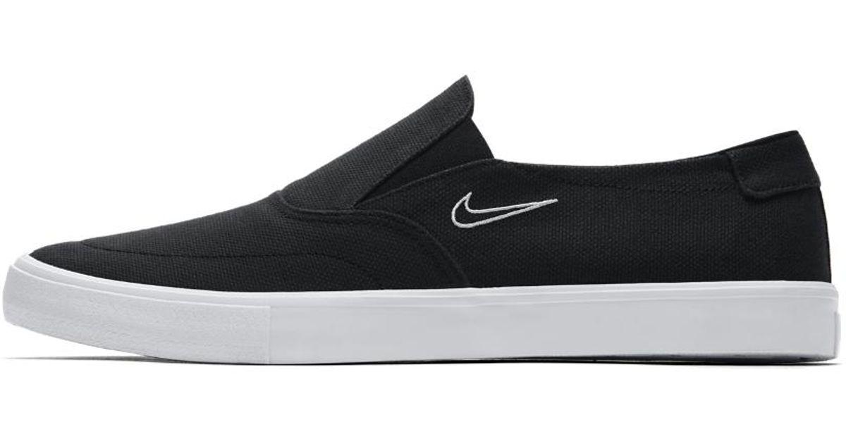 Lyst - Nike Sb Portmore Ii Solarsoft Slip-on Men s Skateboarding Shoe in  Black for 7038ff648