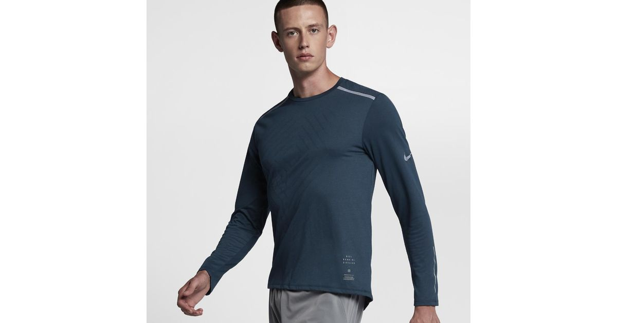 26dafd2d Nike Tailwind Running Division Men's Long Sleeve Running Top in Blue for Men  - Lyst