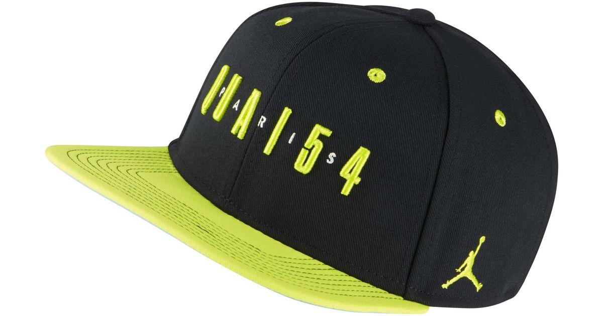 7f06e0d5eab Nike Jordan Quai 54 Snapback Adjustable Hat in Black - Lyst
