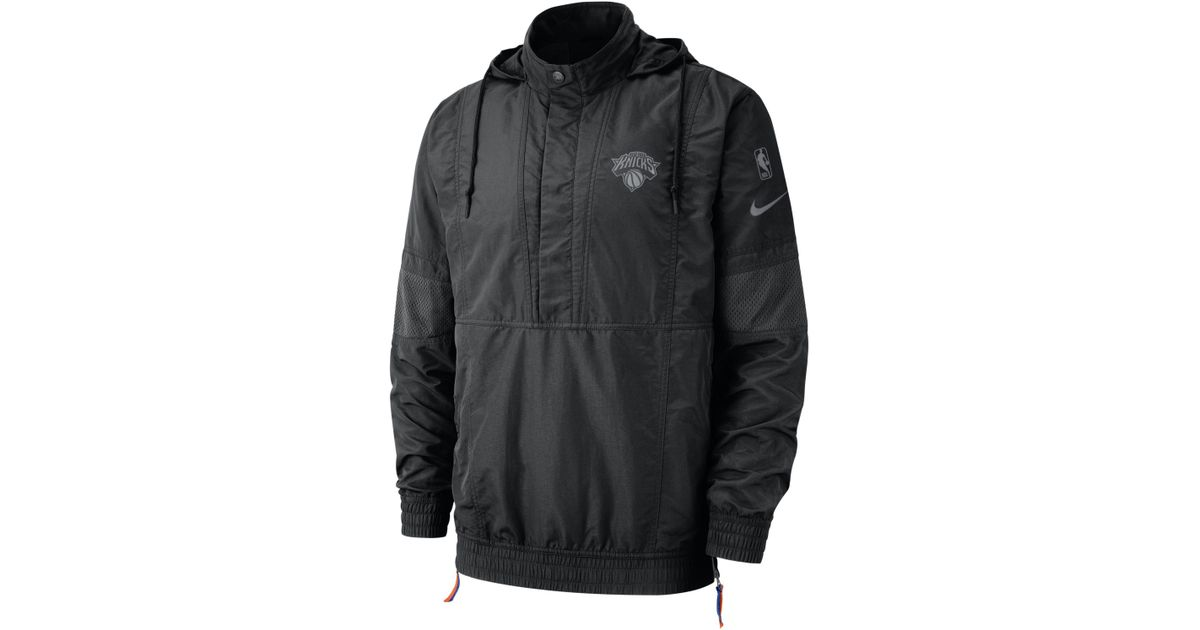 Nike New York Knicks Courtside Hooded Nba Jacket in Black for Men - Lyst 78af054b7