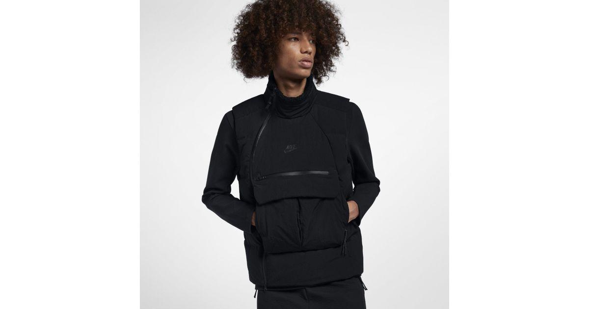 318cd52e3 Nike Sportswear Tech Pack Down-fill Gilet in Black for Men - Lyst