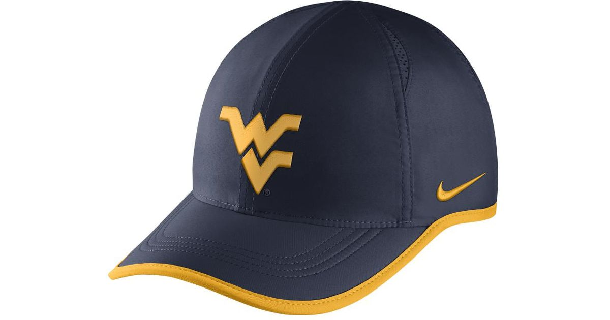 info for f38ea 61e17 ... netherlands lyst nike college aerobill featherlight west virginia  adjustable hat blue clearance sale in blue for