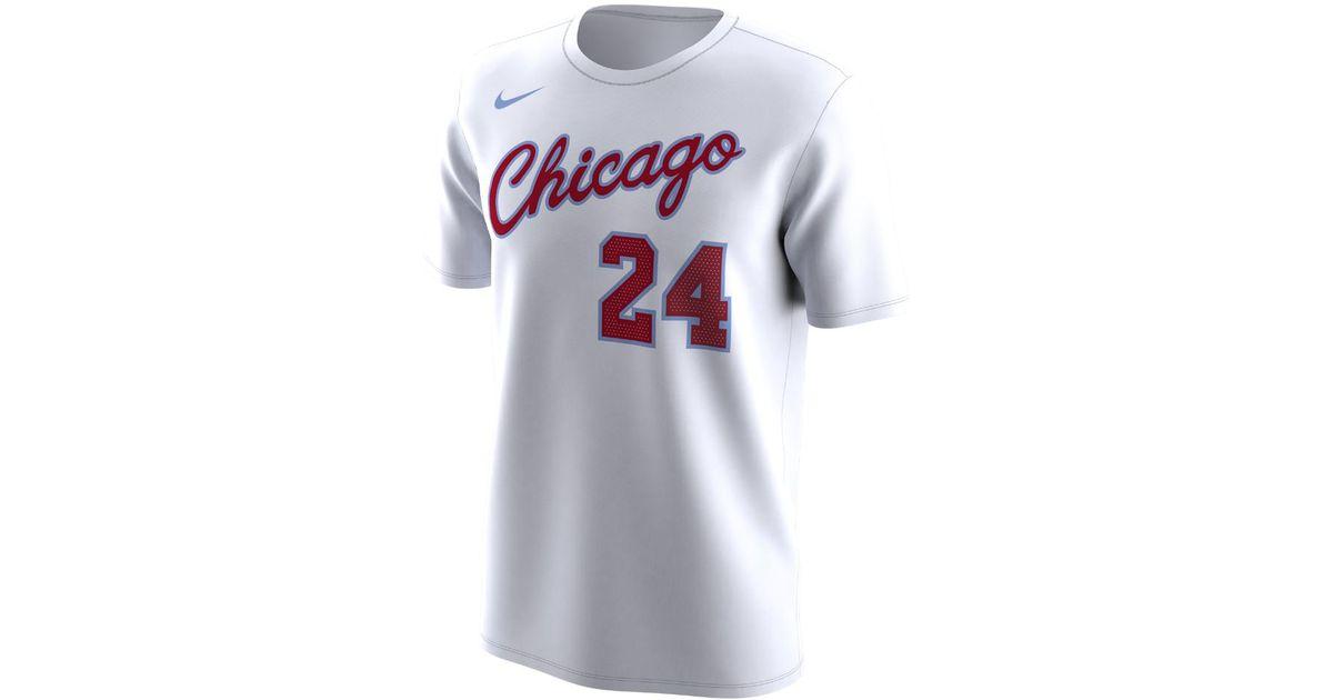 8d3c666519e Lyst - Nike Chicago Bulls City Edition (lauri Markkanen) Dri-fit Men s Nba  T-shirt in White for Men