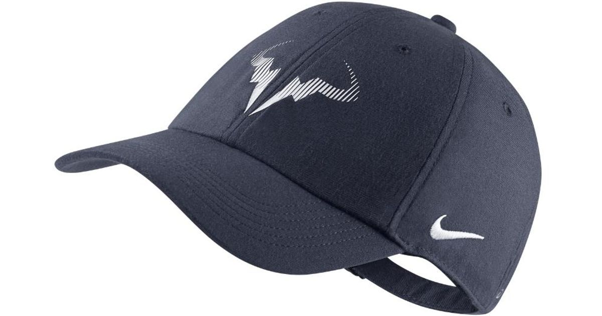 6ccff3dc5eae1 ... low cost lyst nike court aerobill h86 rafael nadal adjustable tennis  hat blue in blue for