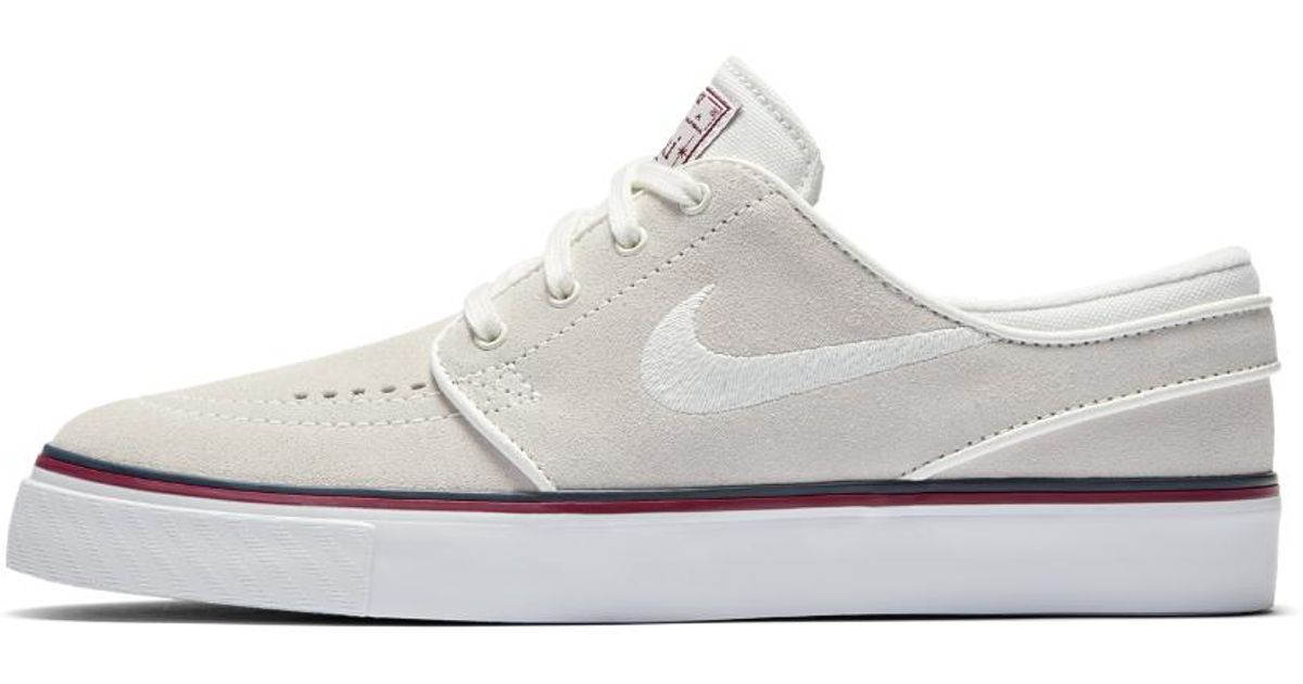the best attitude e2610 044cf Lyst - Nike Sb Air Zoom Stefan Janoski Women s Skateboarding Shoe in White