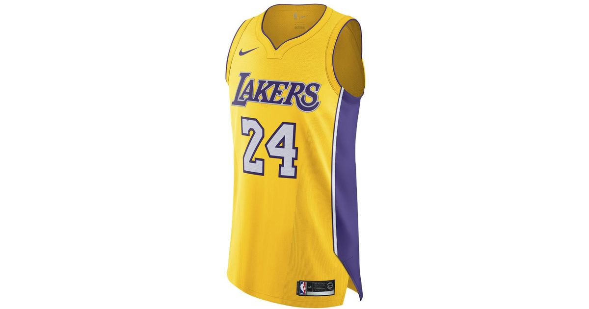 Lyst - Nike Kobe Bryant Icon Edition Authentic (los Angeles Lakers) Men s  Nba Connected Jersey in Yellow for Men f577774389