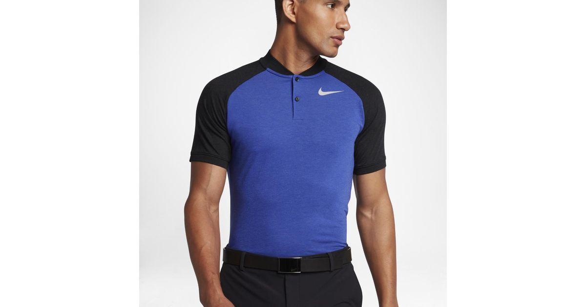 3293031cf Lyst - Nike Raglan Men's Slim Fit Golf Polo Shirt in Black for Men