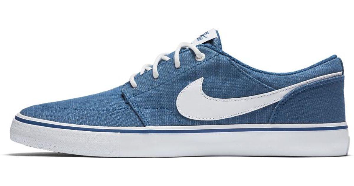 Lyst - Nike Sb Solarsoft Portmore Ii Canvas Premium Men s Skateboarding Shoe  in Blue for Men d7195fca4