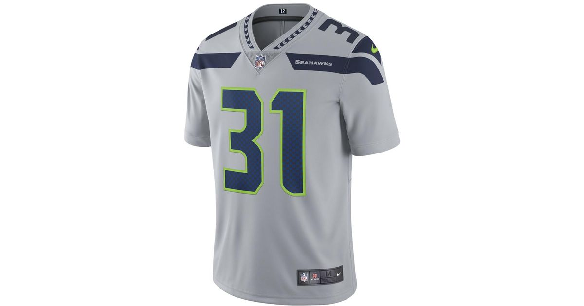 b429c7ed05d ... canada lyst nike nfl seattle seahawks limited kam chancellor mens  football jersey in gray for men