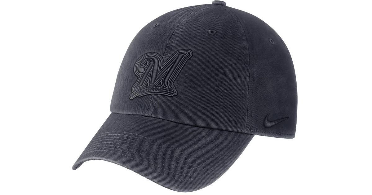 408fd888041 ... ireland lyst nike heritage 86 mlb brewers adjustable hat blue in blue  for men b9712 c43c2
