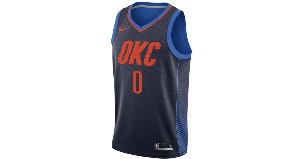 813283e6971 Lyst - Nike Russell Westbrook Statement Edition Swingman Jersey (oklahoma  City Thunder) Men s Nba Connected Jersey in Blue for Men