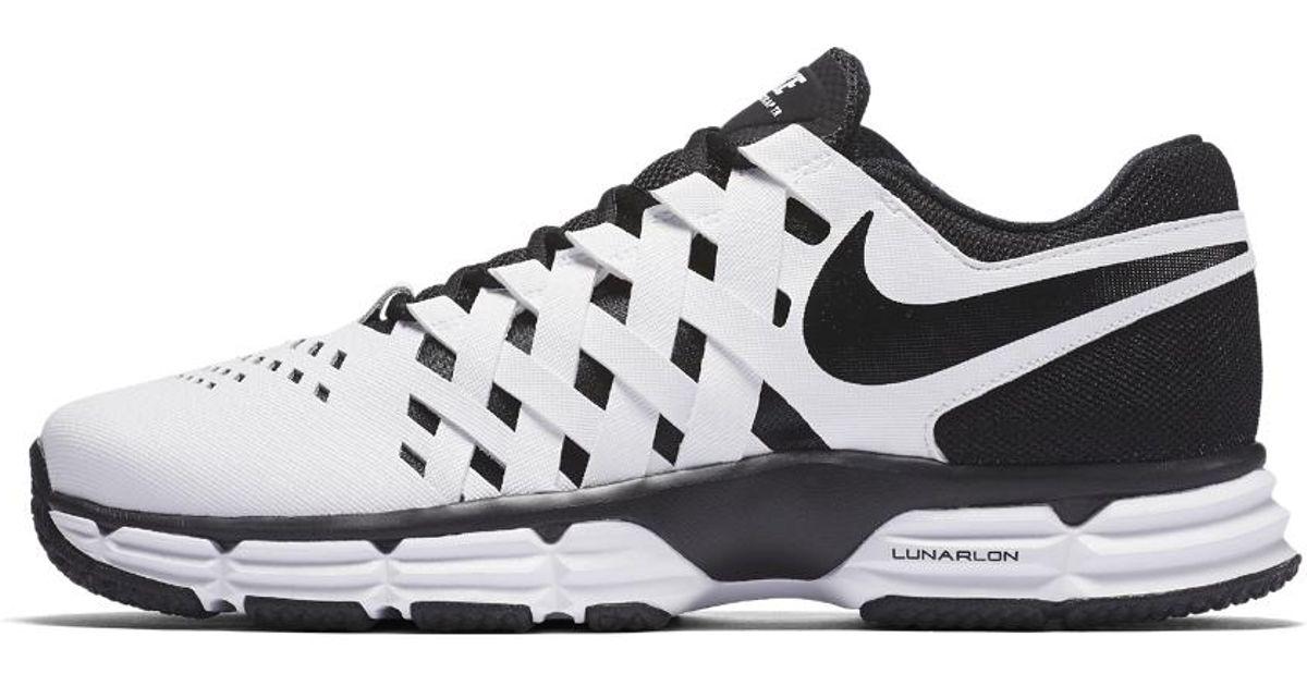 ba982fb1b21b Lyst - Nike Lunar Fingertrap (extra Wide) Tr Men s Training Shoe in White  for Men