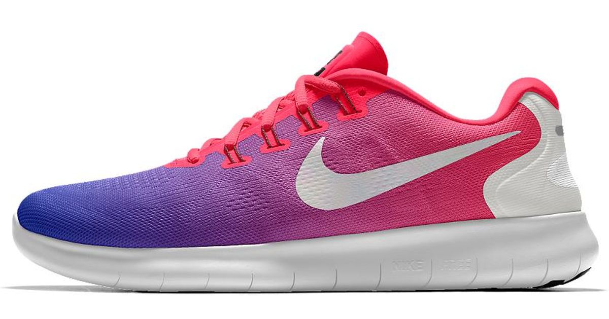 cheap for discount 4e703 943a1 Nike - Pink Free Rn 2017 Id Women's Running Shoe - Lyst