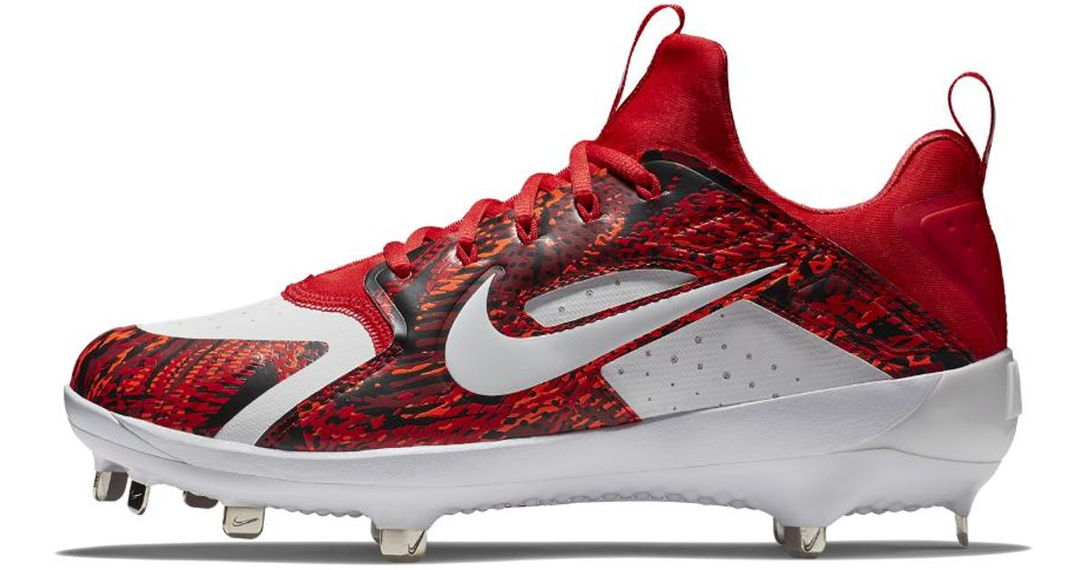689e8a1df4a Nike Alpha Huarache Elite Low Men s Baseball Cleats in Red for Men - Lyst