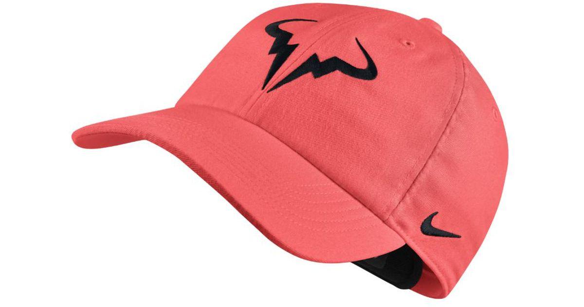 de500163385fa Nike Court Aerobill H86 Rafael Nadal Adjustable Tennis Hat (pink) in Pink  for Men - Lyst
