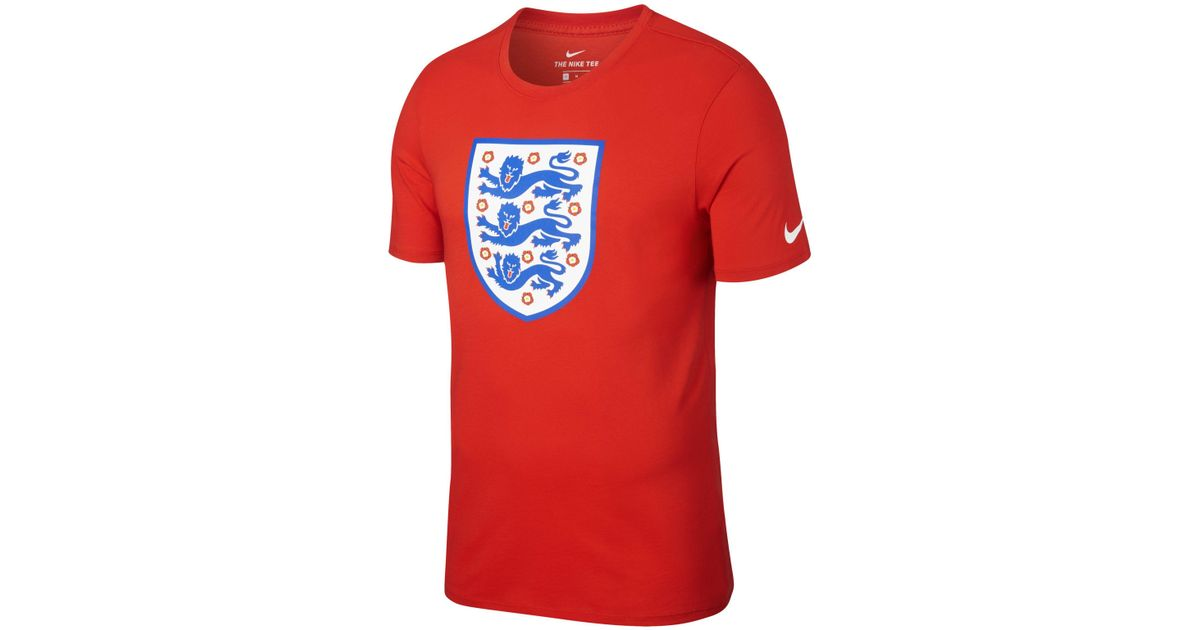 0d076748 Nike England Crest T-shirt in Red for Men - Lyst