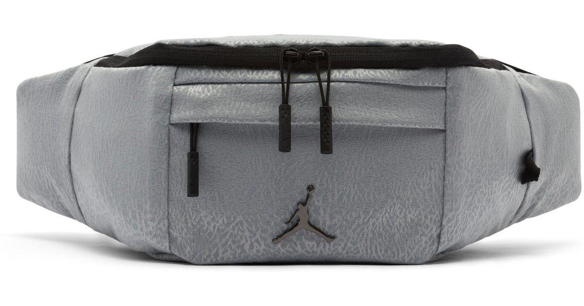 a1805a3a165e46 Nike Jordan Jumpman Air Crossbody Bag in Gray - Lyst