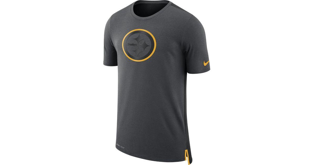 Lyst - Nike Dry Travel (nfl Steelers) Men s T-shirt in Black for Men b1ef207c3