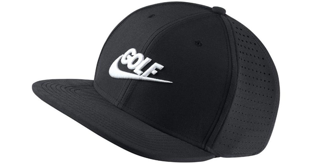 Nike - Pro Performance Adjustable Golf Hat (black) for Men - Lyst 1ccb6a07347