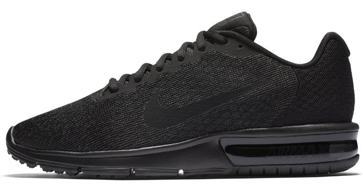 Lyst - Nike Air Max Sequent 2 Men s Running Shoe in Black for Men 31d6eba13