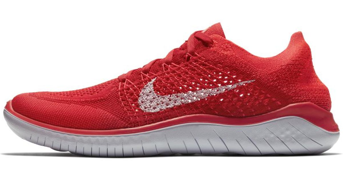a4089d96398 Lyst - Nike Free Rn Flyknit 2018 Men s Running Shoe in Red for Men