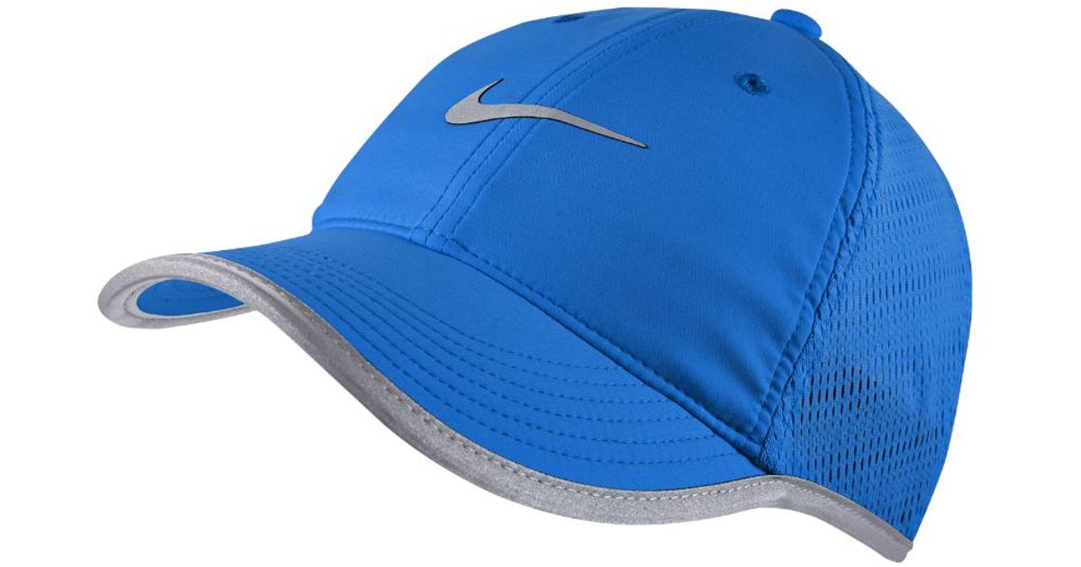 a8409161279fe ... germany lyst nike knit mesh womens adjustable running hat in blue 90f1a  bc069