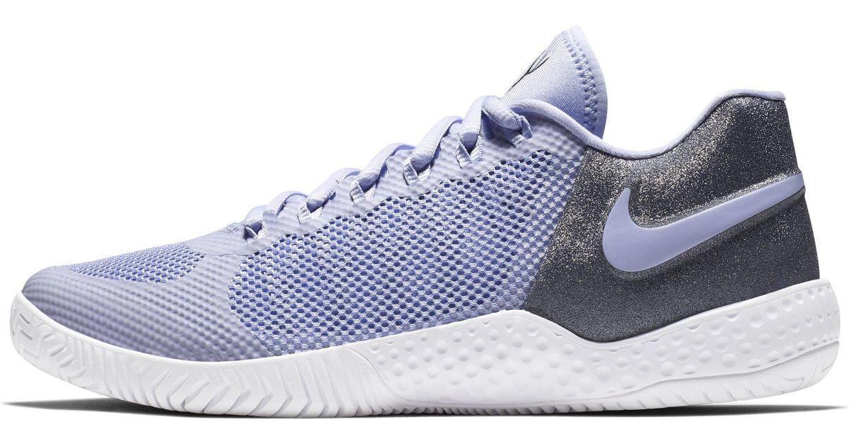 on sale 48b37 fe5fe Nike Court Flare 2 Hard Court Qs Tennis Shoe in Purple - Lyst