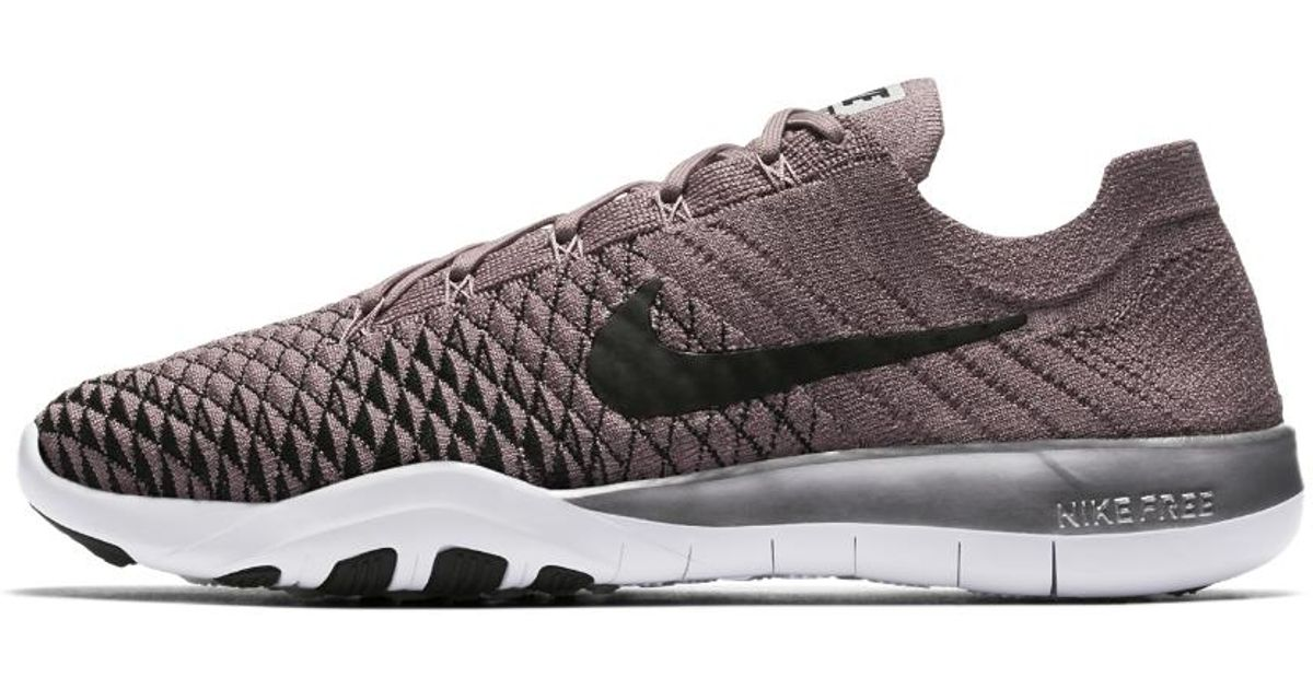 2c51cfea7c548 ... where to buy lyst nike free tr flyknit 2 womens training shoe in gray  58a0a 63c7f