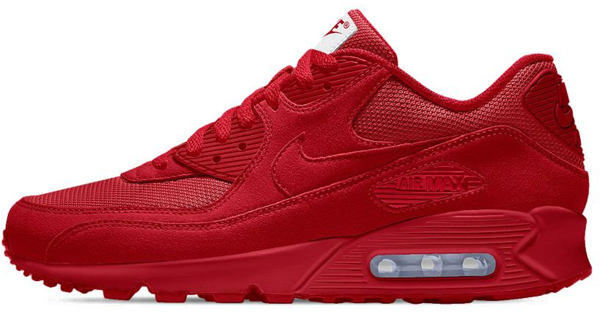cheap for discount 6b23b b39d9 Lyst - Nike Air Max 90 Essential Id Mens Shoe in Red for Men