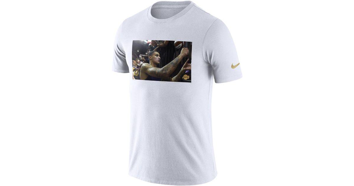 on sale 52c60 f820d Nike - White Kyle Kuzma Los Angeles Lakers Dri-fit Men's Nba T-shirt for  Men - Lyst
