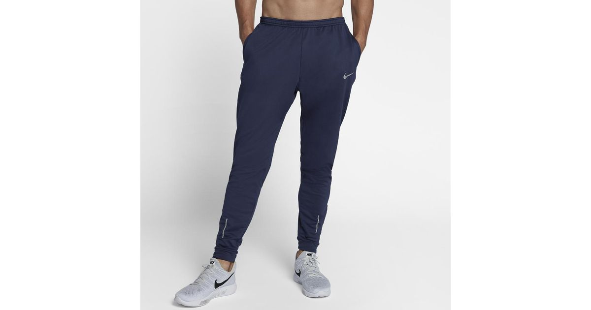 9b29bacd490c Lyst - Nike Therma Essential Men s Running Pants in Blue for Men