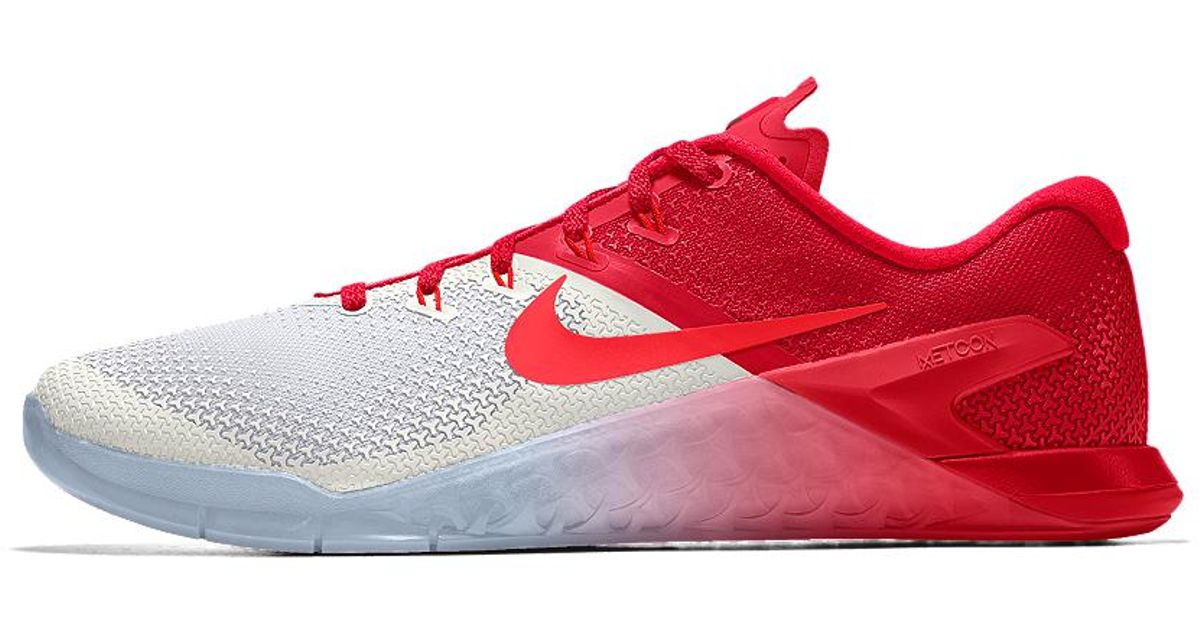 3b8f91f4c667 Lyst - Nike Metcon 4 Id Women s Training Shoe in Red