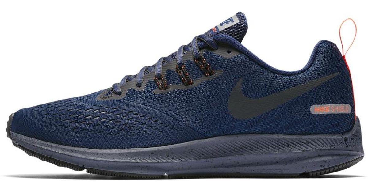 038dc022658b Lyst - Nike Air Zoom Winflo 4 Shield Men s Running Shoe in Blue for Men